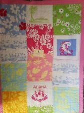 New Pottery Barn Tropical Island Patchwork Pink Crib Toddler Bed Quilt & Sham