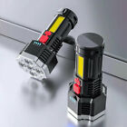 5-Head Flashlights COB Searchlight Outdoor Spotlight Waterproof Handheld Lamps