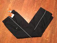 New nwt Womens Nike lined black workout training pants 454928-010 sz m medium