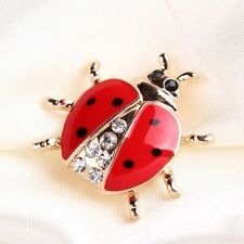 Antique New Female Fashionable Ladybug Brooches Women Jewelry Rhinestone
