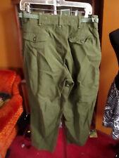 SMALL SHORT 30x27 1953 date True Vtg US Army M-1951 Wool Field Trousers pants