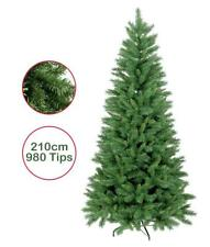 Artificial Christmas Tree 7ft 210cm Duchess Spruce Hinged 980 Tips Green Xmas