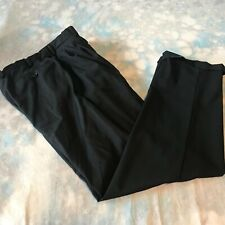 Pal Zileri Sz 31x30 Black Wool Pleated Fly Front Men's Dress Pants