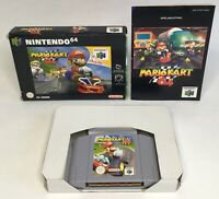 Nintendo 64 N64 Mario Kart 64 PAL Version Complete in Box CIB *Authentic/Tested*