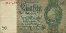 New Listing1933 50 Reichsmark Nazi Germany Currency Banknote Note Money Bank Bill Cash Wwii