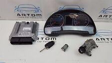 AUDI A4 B7 2.0 TFSI ENGINE ECU / LOCK SET / KIT 8E0910115J / 8E0 910 115 J
