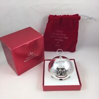 2002 Wallace Silver Plate Sleigh Bell Christmas Ornament w/ Original Box & Pouch
