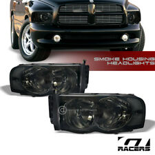 For 2002-2005 Dodge Ram 1500/2500 Smoke Housing Headlights Corner Signal Lamp Nb