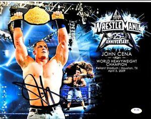 WWE JOHN CENA HAND SIGNED AUTOGRAPHED 12X14 WRESTLEMANIA 25 PHOTO WITH PSA COA