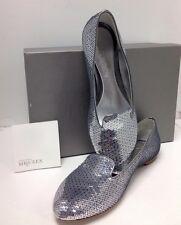 Alexander McQueen Shoe Silver Sequine Flat Size 38.5