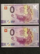 2x 0 EURO Souvenir Freddie Mercury 2021-3 New Design + Anniversary CHAU