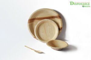 Eco Friendly R25cm+15cm Plate+15 cm Bowl +Spoons(Free)- 3 Course Meal for 25 ppl