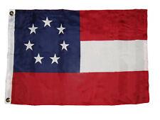 2x3 Historical Stars and Bars 7 Star 1st National Flag 2'x3' Banner Grommets