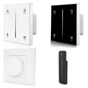 LED Light Touch Switch Dimmer Wall Screen Tempered Glass 1-10V