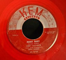 RED VINYL TEEN Jerry Madison KEM 2753 Merry Mary and Don't Ever Make Me Cry Good