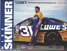 "MIKE SKINNER #31 ""TEAM LOWES RACING RCR"" NASCAR WINSTON CUP SERIES POSTCARD"
