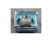 9mm Classic Size Italian Charm E25 Multi Colour  Crown