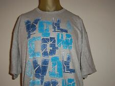 VOLCOM GRAY MEN'S GRAPHIC T-SHIRT W/MULTI-COLOR LOGOS size X-Large/XL