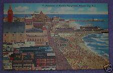 PANORAMIC VIEW OF ATLANTIC CITY, NJ 1944 POSTCARD