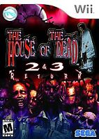The House of the Dead 2 & 3 Return (Nintendo Wii, 2008) Brand New
