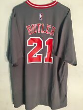 adidas NBA Jersey Chicago Bulls Jimmy Butler Grey Short Sleeve Sz M