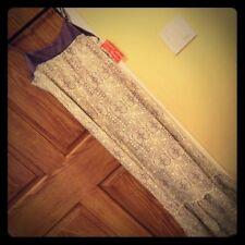 Hinano Tahiti Long purple dress SMALL loose fit mulberry adjustable straps white