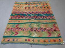 Vintage Turkish Kilim Kelim Rug shabby, country home, boho 129x105 cm medium