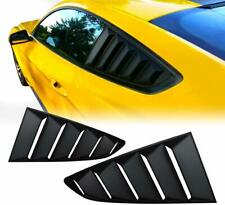 For 2015-2020 Ford Mustang Black Side Rear Window Quarter Louver Covers