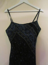 Blue Paisley Miss Selfridge Sleeveless Dress in Size 14