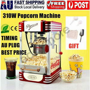 Electric Popcorn Machine Home Commercial Popcorn Maker Popping Popper Cooker AU