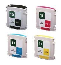 4 x Tinte Patronen für HP DesignJet 111 111Plus / 82 + 11 CH565A C4836A -C4838A