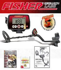Fisher F22 Metal Detector 9 Inch Coil + Lost Treasure Magazine + 5 YEAR WARRANTY