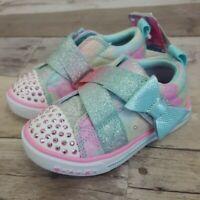 S Sport Skechers Toddler Girls 6, 7, 13 Crystal Stars Robyn Light Up Sneakers