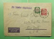 DR WHO 1940 GERMANY BRESLAU AIRMAIL TO USA WWII CENSORED  g18252