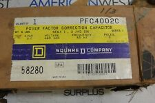 PFC4002C SQUARE D POWER FACTOR CORRECTION CAPACITOR 480VAC 60HZ 3 POLE SERIES 1