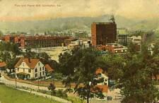 1909 COVINGTON VA early Pulp & Paper Mill Homes BEV postcard