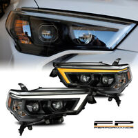 For 14-20 4Runner AlphaRex Pro Alpha Black Sequential Projector Headlights Set