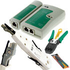 RJ45 Cat 5e Cat 6 Ethernet Network LAN Cable Tester Punch Down Crimping Tool Kit