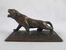 Antique Tiger Bronze For Wearing Parts Advertising Desk Display Mini Sculpture