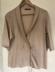 Reiss Women Blush Pink Wrap Cardigan Knit One Button Size S