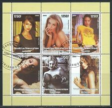 Movie Stars, Super Models 6 Stamp Souvenir Sheet - From Republic of Congo.....77