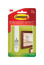 3M  Command  Foam  Picture Hanging Strips  12 pk White  16 lb. Large