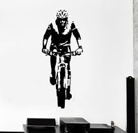 Vinyl Wall Decal Cyclist Sport Bike Bicycle Stickers Mural (ig4419)