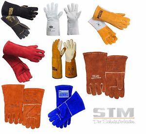 Schweißerhandschuhe MAG Hitzeschutzhandschuhe Lederhandschuhe Gr. 10 Kombi