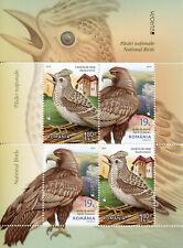 Romania 2019 MNH National Birds Europa Golden Eagles Skylark 4v M/S I Stamps