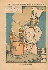 Caricature Politique Anti Franc-Maçons Franc-Maçonnerie Société Discrète 1936