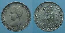 SPAGNA 50 CENTIMOS 1892/89 (92) PG M qFDC