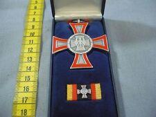 Bundeswehr Ehrenkreuz in Silber ohne Gefahr mit Etui und Bandschnalle