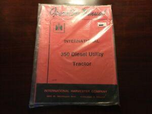 International 350 Diesel Utility Tractor Operator's Manual