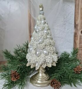 Weihnachtsbaum Tannenbaum Baum Gold Christmas 20cm  shabby Vintage